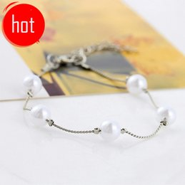 Wholesale Patriotic Clothing - Korean jewelry hand clothes decorative accessories Korean version of the lovely wild pearl bracelet bracelet female Yiwu small jewelry