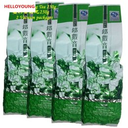2019 tè del pacchetto del vuoto vendite calde C-WL017 gratuita Parcheggio gratuito !! 2 confezioni sottovuoto Premium Fragrante tipo tradizionale cinese di Oolong del latte del tè TieGuanYin tè verde Milk Tea 250g sconti tè del pacchetto del vuoto
