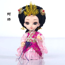 Wholesale Doll Ceramic - Tang Fang Beijing people China wind genuine gifts crafts silk doll Festival birthday gift bag mail