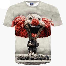 Wholesale Printed T Shirts For Boys - 3D T shirts Hot selling Cartoon t-shirt for men boy t shirt 3d print Atomic bomb clouds short sleeve tshirt summer tops A13