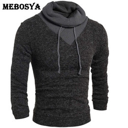 Wholesale Turtleneck Zipper Male - Wholesale- Men Fashion Sweaters Thick Casual male slim pullover turtleneck sweater solid color spring men's clothes wool sweater men tops