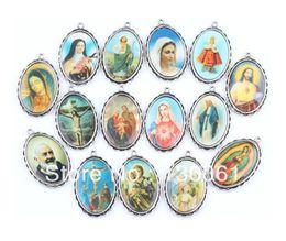 Silbernes foto armband online-Vintage Silber Dangle Mix Katholizismus Rahmen Foto Virgin MaryJesus Charms Anhänger für Armband DIY Schmuckzubehör Geschenke HOT 50PCS Z1629