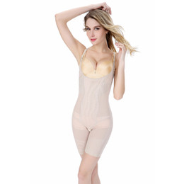 Wholesale Bamboo Shapewear - Wholesale- New Women\'s Slimming Bamboo Shaper Underbust Shapewear Corset Body Control Bodysuit