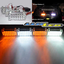 Wholesale Red Led Grill Lights - 4 x 22 LED Emergency Strobe Warning Flash Flashing Grill Light Amber White