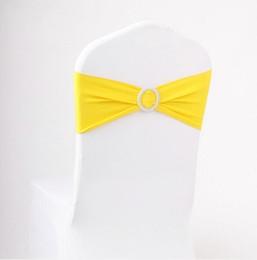 2019 sedie a sdraio in raso bianco Fasce per sedia da matrimonio in lycra spandex wedding party compleanno sedia elastica fibbia telaio decorazione multi colori