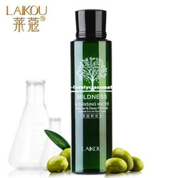 Wholesale Eye Purified - LAIKOU Olive Oil Makeup Remover Intensive Purify Cleansing Water Skin Care Eyes Lips Face Deep Clean Cleaner Wiper 100ml