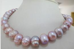 "Wholesale Huge Golden South Sea Pearls - HUGE 18""11-12MM SOUTH SEA GENUINE GOLDEN LAVENDER PEARL NECKLACE"