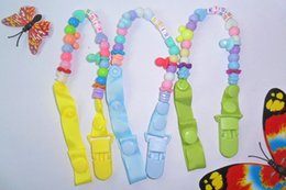 Wholesale Dummies For Babies - Baby and baby nipple chain clip pacifier clips pacifier holders chain dummy clip  Teethers clip for baby
