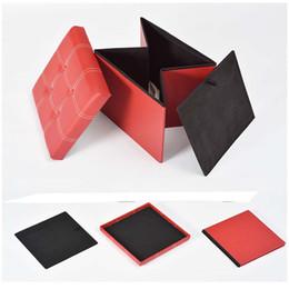 Wholesale Storage Lounge - Folding storage sofa lounge chair PU Manufacturers wholesale Carton