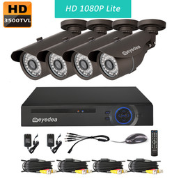 Wholesale Cameras Dvr Systems - Eyedea 8 CH 1080P Lite Remote View WiFi DVR Video Surveillance Recorder 3500TVL Outdoor Night Vision CMOS Home CCTV Security Camera System