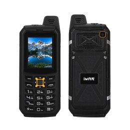 Wholesale Google Os - Wholesale Power Bank IP68 Waterproof Dustproof Shockproof Rugged Mobile Phone 2 Inch 64M+64M 2MP Camera Flashlight 2200mAh iMAN S2