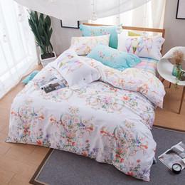 Wholesale King Size Comforters Sale - KELUO Brand 100%Cotton Bedding Set, Bird & flower Pattern printed Double FULL Queen Size Bedding set hot sale