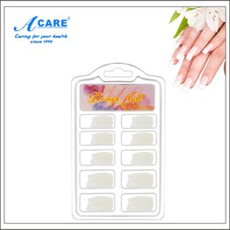 Wholesale Short Fake Nails - Wholesale- Artificial Nails Display Short Full Cover False Nails Acrylic Fake Nails Tips 100pcs lot Faux Ongles avec Colle Nagel Tips