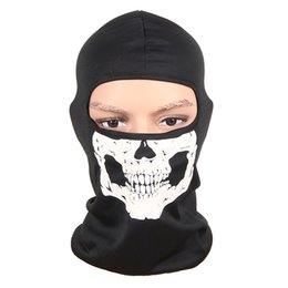 Wholesale Ghost Balaclavas - New 3D Outdoor Sports Hunting Bicycle Cycling Skateboard Motorcycle Skull Ghost Ski Riding Hat Balaclava Protect Full Face Mask