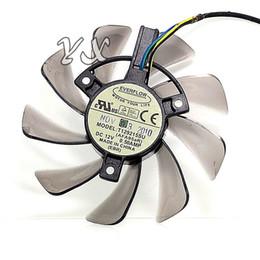 Ventilador de tarjeta de video Nuevo ventilador de tarjeta gráfica T128010SU 12V 0.35A 4P Diámetro de enchufe 7.5cm desde fabricantes