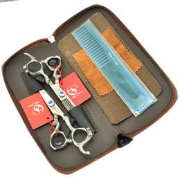 Kits de barbeiro on-line-6.0 Polegada Meisha Dragão Lidar Com Barbeiro Tesoura Profissional Cabeleireiro Tesoura Kits de Corte De Cabelo Emagrecimento Shears JP440C, HA0280