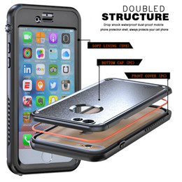 Wholesale Wholesale Cell Phones Usa - USA Waterproof Case Dirt Shock Proof Mobile Cell Phone Cases Cover for iphone 6 7 6 plus shockproof Cell Phone Case