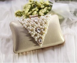 Wholesale Elegant Evening Handbag Rhinestone - Factory sales high-grade diamond brand handbag exquisite handmade beaded bag bride Rhinestone party dress bag elegant woman evening bag