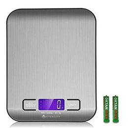 Wholesale Digital Kitchen Scale Stainless Steel - Etekcity Digital Kitchen Scale Multifunction Food Scale Silver Stainless Steel Food Scale Multiple Units (Batteries Included) DHL