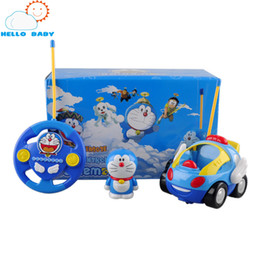 Wholesale Toy Music Radio - Wholesale- Children Electric RC Car Kids RC Car Radio-controlled Speed Toys Remote Control Cartoon Car Toy for 1 Year Baby Kids Music Toys