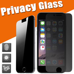 Wholesale Guard Shield Screen Protector - Privacy Tempered Glass 9H Hardness Premium Shield Anti-Spy Real Screen Protector Film Protective Guard for iPhone 7 Plus 6 6S 5 5S 4 4S