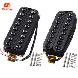 Wholesale Pickup Magnet - Black Ceramic Magnet Humbucker Pickup for 8-String Electric Guitar Neck Pickup and Bridge Pickup for Choose
