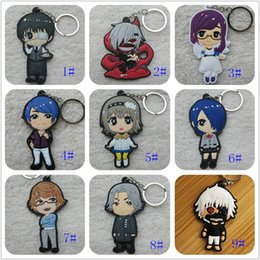 hot anime girl figures Coupons - Hot ! 20pcs Japanese anime Tokyo Ghoul Keychain PVC Dijiao Keychain double PVC Keychain wholesale Costume Props Collectible