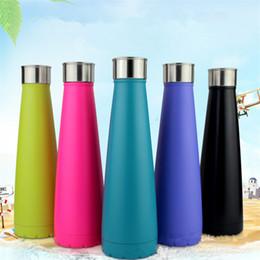 Wholesale Keep Warm Bottle - Kola Bottle Vacuum Cup Cola Shaped Insulated Double Wall Stainless Steel Mugs Vacuum Keep Warm IA524