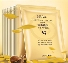 Wholesale Dope Wholesale - Bisutang Snail Mask Moisturizing Face Mask Oil Control Shrink Pores Facial Masks Snail Dope Mask Paste Skin Care DHL shipment