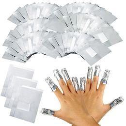 Wholesale Soak Off Gel Foil - Wholesale- 100pcs Aluminium Foil Nail Art Soak Off Acrylic Gel Polish Nail Wraps Remover Hot Selling