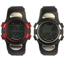 Wholesale Heart Rate Watch Calorie Counter - Wholesale- High Quality free shipping Digital Professional New Fitness 3D Pedometer Calories Counter Watch Pulse Heart Rate Monitor