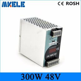 Wholesale Switching Power Supply Cnc - Miniature din rail mount LP-300-48 300W 48v 6.25a without digital display Single Output Switching power supply AC to DC SMPS CNC