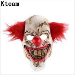 Wholesale Evil Cosplay Costume - Funny Party Cosplay New Evil Circus Clown Mask Pennywise Halloween Horror Party Joker Mask Fancy Dress Costume Accessory
