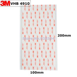 Wholesale Vhb Foam Tape - Wholesale- 2016 5pcs lot 3M VHB 4910 Double Sided Adhesive Acrylic Foam Tape Clear 20cm*10cm*1mm