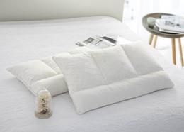 Wholesale Cotton Filling Pillow - BeddingOutlet Alternative Filling Pillow Latex granules Bedding Pillow Fabric Cotton Soft Warm Neck Heath Latex Pillow