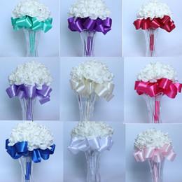 Wholesale Pearl Parts - lowers home decoration 15 Colour Handmade Luxuriou Fashion Wedding bouquet Bridal Bouquet Bridesmaid Pearls Silk Flower Crystal Home Part...