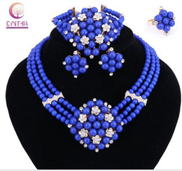 nigeriana granos amarillos de la joyería de Rebajas Regalo de Año Nuevo ~ Perlas Gargantilla Classic perlas púrpuras amarillas Rosas Nigerian Beads Jewelry Set Wedding Party Queen Conjuntos de joyas