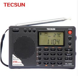Wholesale Tecsun Radio Digital Portable - Wholesale-2016 NEW ARRIVED Tecsun PL-380 World Full Band Stereo Radio Portable Radio Digital FM Radio Receiver LW SW MW DSP Receiver