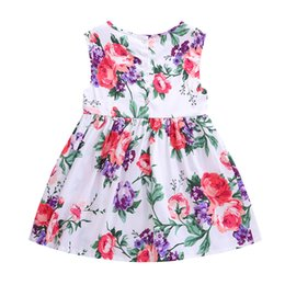 Wholesale New Fashion Striped Girls - New Kids Children Dresses Fashion 2017 Summer Clothes Kids Party Dress Girl Summer Dress Princess Girl Dresses