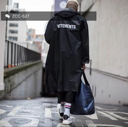 Wholesale Embroidery Belt - Wholesale- Vetements 16 ss OVERSIZE GD with long dust coat Waterproof raincoat coat lovers