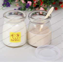 Wholesale Yogurt Pudding - 2017 NEW 150ml Yoghurt Jars Pudding Bottle with Lid Replacement Glass Jars for Yogurt Maker free shipping MYY