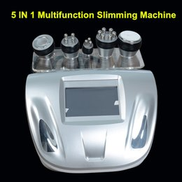 Wholesale 5in1 Ultrasonic Liposuction Machine - Big discount 5in1 Ultrasonic Liposuction 40K Cavitation Vacuum Slimming Multipolar bipolor RF radio frequency SKIN BODY SALON MACHINE