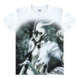 Wholesale White Ichigo - Anime Bleach Cosplay Aizen Sousuke Printed Short-Sleeve T-shirts Kurosaki Ichigo Tees Hitsugaya Toushirou Casual Breathable Tops