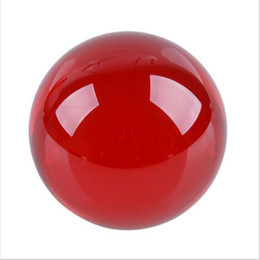 Wholesale Artificial Crystals For Decoration - Wholesale- Best Sale Pretty Crystal Ball 40 50 60 70 80mm Round Glass Red Artificial Crystal Healing Sphere For Home Wedding Decoration