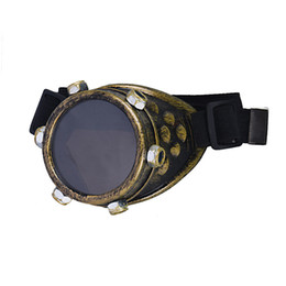 Wholesale Wholesale Frameless Mirrors - Wholesale- Durable Unisex Women Steampunk Windproof DIY Lens Right Eye Punk Glasses Props