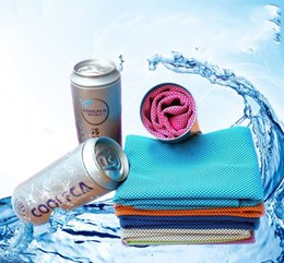 Wholesale Towels Packing - Zip Top Can Packing Cool Towel Heatstroke Prevention Cooling Cold Loop Towels Sporting Washcloth Absorbing Sweat Comfortable 9 8kf