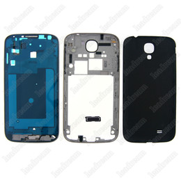 Wholesale S4 Full Cover - Full Housing Case Cover Middle frame Bezel with Side Buttons and Home Buttons Replacements for Samsung Galaxy S4 i9500 i9505 i337 Free DHL