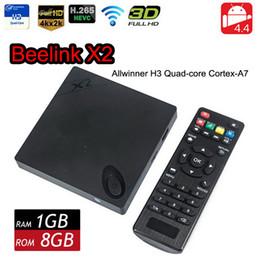 Wholesale Android X2 - Genuine Beelink X2 Android TV Box Allwinner H3 Quad Core 4K HD 1080P H.265 HEVC Full HD 1080P Wifi Smart TV Mini PC VS MXQ M8S MXIII