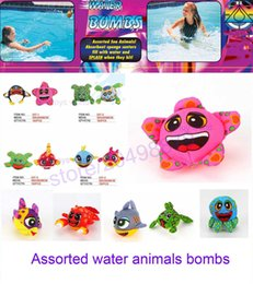 Wholesale Free Multi Games - 2017 Assorted water sea animals bombs water ball funny toys kid summer play game free shipping