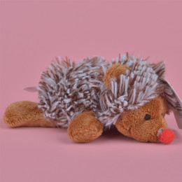 Argentina 5 Unids Al Por Mayor A Estrenar 10 cm Encantador Hedgehog Stuffed Animals Felpa Imán de Nevera Juguetes, Aprendizaje de la enseñanza, Decoración del hogar Envío Gratis Suministro